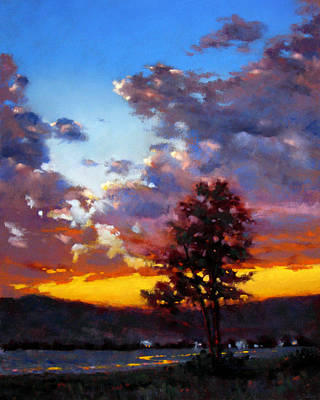 Painting - Evening In The Valley by Dianna Ponting