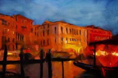 Evening In Venice Art Print