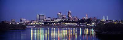 Evening Kansas City Mo Art Print by Panoramic Images