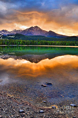 Photograph - Evening Light At Lake Edith by Tara Turner