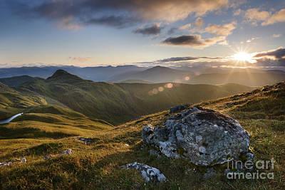 Evening Light From Meall Nan Tarmachan - Scotland Print by Rod McLean