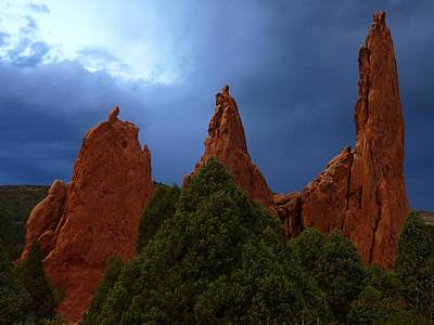 Photograph - Evening Light Garden Of The Gods by George Tuffy
