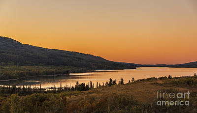 Photograph - Evening Light On St. Mary Lake by Robert Bales