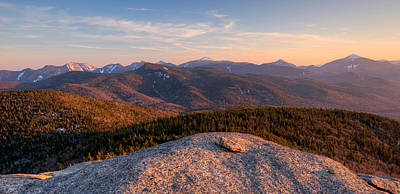 Evening Light On The Adirondack High Art Print by Panoramic Images