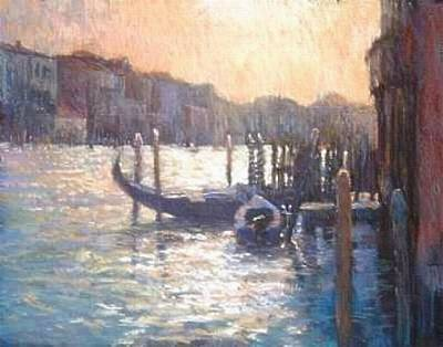 Painting - Evening Light On The Grand Canal by Jackie Simmonds