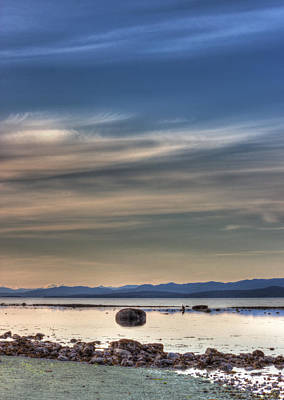 Photograph - Evening Light On The Salish Sea by Randy Hall
