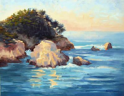 Evening Light Point Lobos Original by Karin  Leonard