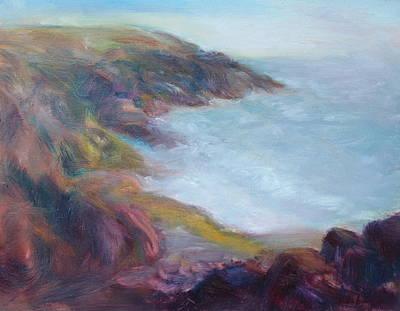 Painting Royalty Free Images - Evening Light on the Oregon Coast - Original Impressionist Oil Painting - Plein Air Royalty-Free Image by Quin Sweetman