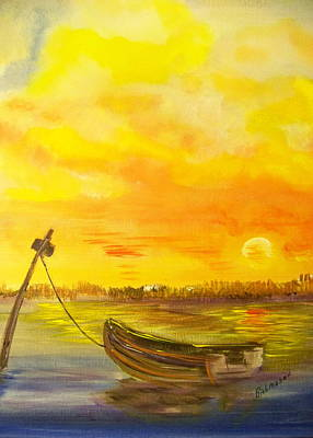 Tidal Creek Painting - Evening Light by Rich Mason