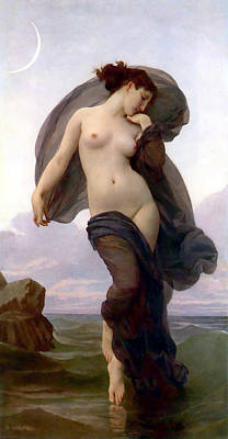 Mood Painting - Evening Mood by Adolphe-William Bouguereau