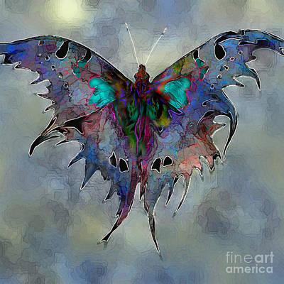 Digital Art - Evening Moth by Ursula Freer
