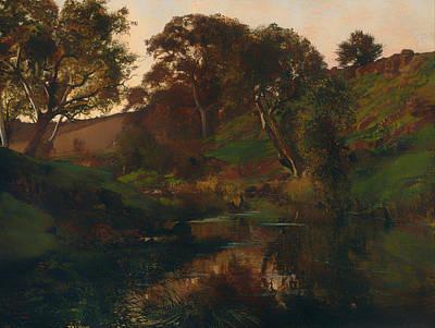 Beautiful Creek Painting - Evening On Merri Creek by Mountain Dreams