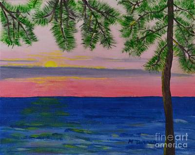 Painting - Evening On Mobile Bay by Melvin Turner