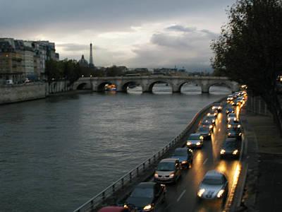 Evening On Pont Au Change  Art Print by Joe Schofield