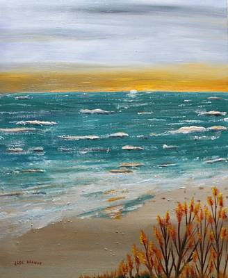 Painting - Evening On The Beach by Jack G  Brauer