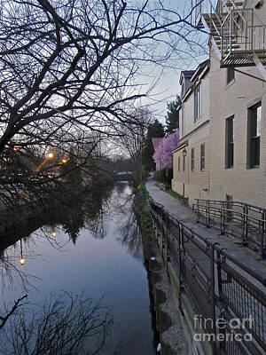 Evening On The Canal Path Art Print