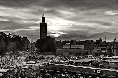 Photograph - Evening On The Djemaa El Fna Square by Tomasz Dziubinski