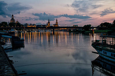 Photograph - Evening On The Elbe River by Robert Woodward