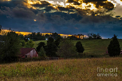 Photograph - Evening On The Farm Two by Ken Frischkorn