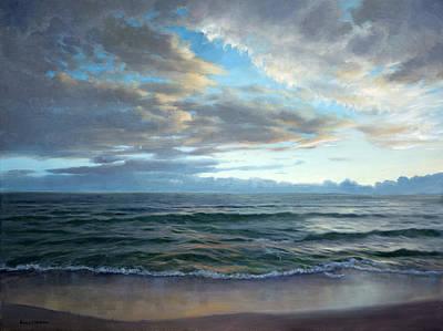 Gulf Coast Painting - Evening On The Gulf by Armand Cabrera