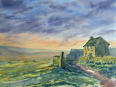 Painting - Twilight On The High Fells by Glenn Marshall