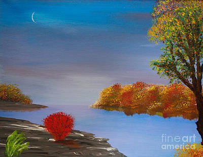 Evening On The Last Sunny Day Art Print by Alys Caviness-Gober