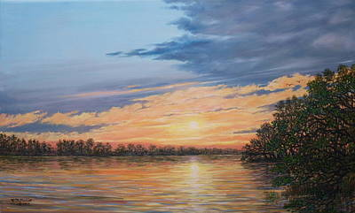 Painting - Evening On The River by Kathleen McDermott
