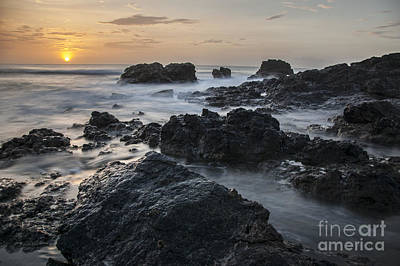 Evening On The Rocky Shore Art Print