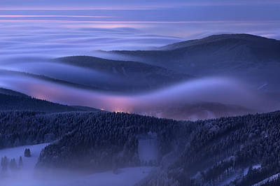 Mist Photograph - Evening Over Inversions by Daniel ?e?icha