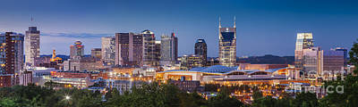 Photograph - Evening Over Nashville Tennessee by Brian Jannsen