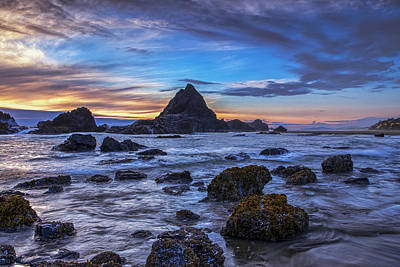 Beach Royalty-Free and Rights-Managed Images - Evening over the Coast by Andrew Soundarajan