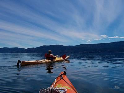 Photograph - Evening Paddle Kalamalka Lake by Guy Hoffman
