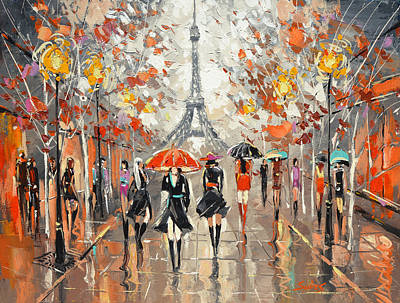 Evening. Paris Art Print