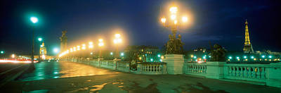 Evening Paris France Art Print by Panoramic Images