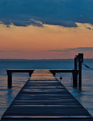 Photograph - Evening Pier - Sunset Photo by William Bartholomew