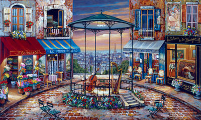 Street Band Wall Art - Painting - Evening Prelude by John O'brien
