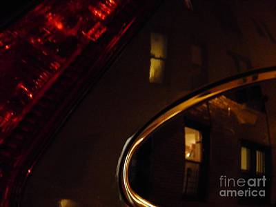 Photograph - Evening Reflection On A Parked Car by Sarah Loft
