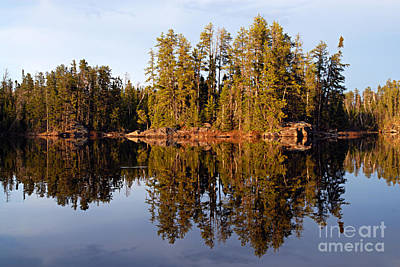 Bwcaw Photograph - Evening Reflections On Snipe Lake 1 by Larry Ricker