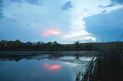 Photograph - Evening Reflections On The Pond by Wendy Ashland