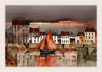 Mixed Media - Evening Return by Val Byrne