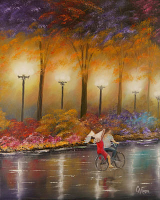 Painting - Evening Ride by Chris Fraser