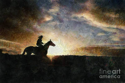 Painting - Evening Ride by Scott B Bennett