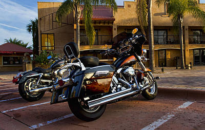 Harley Davidson Photograph - Evening Riders by Peter Chilelli