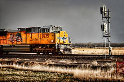 Train Photograph - Evening Run by Sylvia Thornton