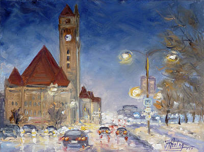 Painting - Evening Rush Hour - St.louis by Irek Szelag