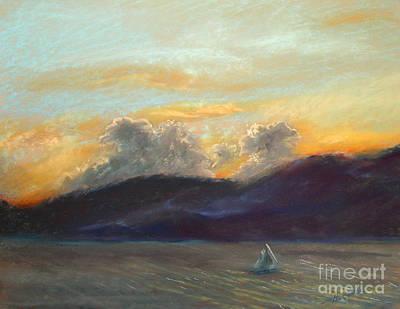 Evening Sail Art Print by Addie Hocynec