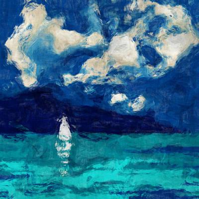 Boating Digital Art - Evening Sail by David G Paul