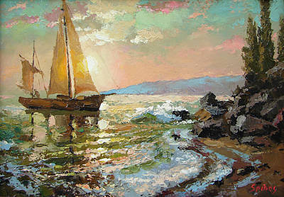 Evening Sail Art Print