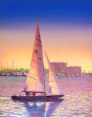 Painting - Evening Sail by Douglas Castleman
