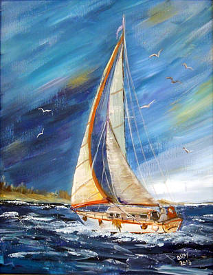 Evening Sailing Art Print